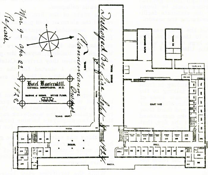 Floor plan of the Hotel Kaaterskill