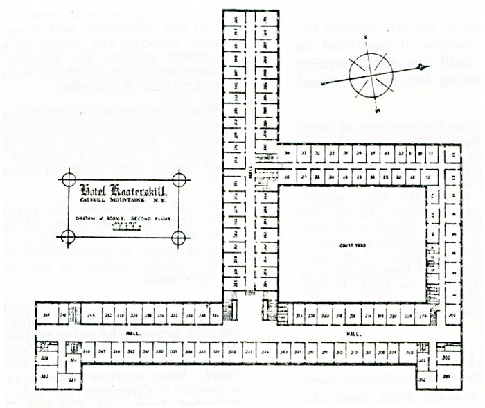 Plan Of The Hotel Kaaterskill - Second Floor
